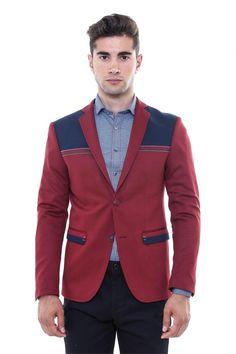 İki Düğme Ön Çizgi İşlemeli Penye Ceket - WSS Wessi Erkek Giyim Mağazası
