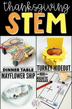 Four Low Prep Thanksgiving STEM Challenges for November | STEM Activities