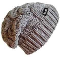 Amazon.com: Frost Hats Winter Hat for Women GRAY Slouchy Beanie Cable Hat Knitted Winter Hat Frost Hats One Size Gray: Clothing