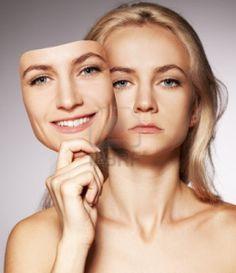 ta på seg en annens ansikt/rolle