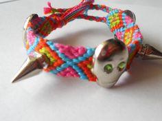 Skulls and Spikes diamond friendship bracelet by SueGeeCandies, $15.99
