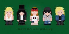 Guns N' Roses Digital PDF Cross Stitch por AmazingCrossStitch