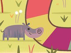 Happy Hippo   Happy Happy Hippo   illustration   Pinterest