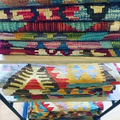 Over 100 new kilims arrive today and are all available on our webstore in tons of sizes and colors!