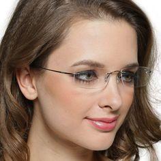 862a34c7f7 Rimless titanium eyeglasses frame female b titanium glasses frameless ultra  light glasses myopia glasses female lovers