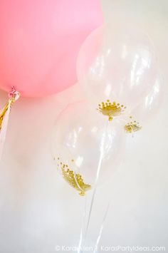 gold confetti in balloons - Google Search