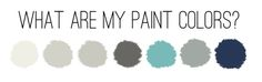 Paint Colors from The Inspired Room -- click on the link to find the names of the paint colors used in my house!