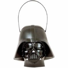 Darth Vader Halloween Trick Or Treat Pail Costume Accessory Star Wars Black New