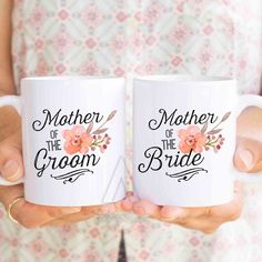 mother of the bride and groom gifts, personalized wedding mug set, gifts for mother of the bride, mother of groom gift, wedding gifts  MU240 by artRuss on Etsy