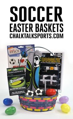 Easter is less than two weeks away! Surprise your favorite soccer player with a Premium Easter basket filled with hand-picked soccer goodies from ChalkTalkSPORTS.com! Your athlete will love this basket that includes our Soccer Dog Tee, soccer SportsSTICS reusable stickers, games, and more!