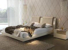 Contemporary Italian Beds Upholstered Storage Bed