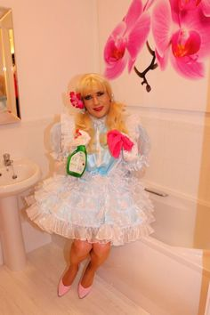 Sissy Maid Debby has to make sure the bathroom is spotless