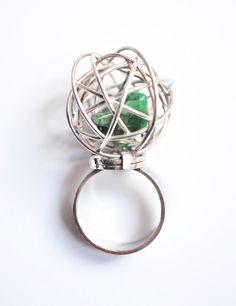 #lattitudeQ 9.70 silver & #rustic emerald ring  www.lattitudeq.com