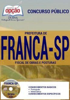 Nova -  Apostila Concurso Prefeitura de Franca - Vários Cargos  #apostilas Saiba como adquirir a sua http://apostilasdacris.com.br/apostila-concurso-prefeitura-de-franca-varios-cargos/