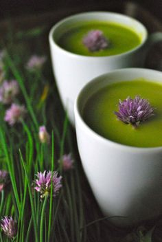 Get your spring on with easy, flavorful Chilled Pea Soup with Tarragon and Chives.