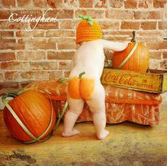 Cheeky little pumpkin