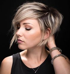 10 Latest Pixie Haircut Designs for Women – Super-stylish Makeovers  Take a look at these trendy makeovers, showcasing the latest pixie haircut designs for women of all ages! I challenge anyone to browse through . Short Hair Styles For Round Faces, Short Hair With Layers, Long Hair Styles, Pixie Haircut For Round Faces, Long Pixie Cut With Bangs, Color For Short Hair, Pixie Cut With Long Bangs, Long Side Bangs, Grown Out Pixie