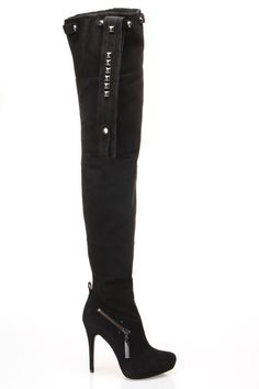 Kane Thigh High Boots In Black  $390.00