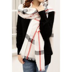 Stylish Plaid Decorated Scarf For Women, COLOR ASSORTED in Scarves | DressLily.com