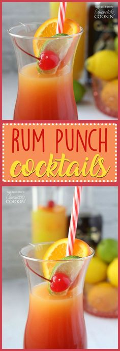 If you enjoy fruity or sweet drinks, this rum punch cocktail is right up your alley. Enjoy the flavors of the Caribbean in this sunset themed rum drink!