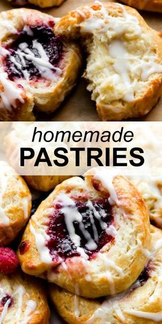 Learn how to make homemade breakfast pastries using this shortcut pastry dough! Fill with cheese filling or your favorite jams or preserves. Step-by-step recipe and video tutorial on sallysbakingaddiction.com