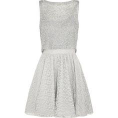 Alice + Olivia Hilta embellished lace mini dress