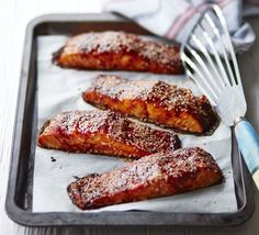Add a punch to omega-3 rich salmon fillets with this tangy glaze - sprinkle with sesame seeds for added crunch and texture
