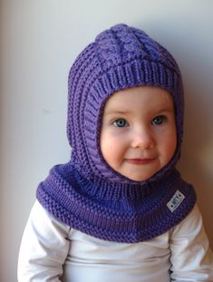 Waldorf inspired winter and snow hat. Hand knitted hoodie / balaclava hat for baby, toddler, child. Made from 100% purple merino wool. Soft and very functional - perfect to keep the little ones warm and cozy during cold days Size: 6-12 Months 1-3 Years 2-4 Years 3-6 Years 6-10 Years Price: 38$
