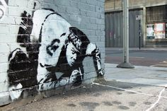 Banksy's iconic Snorting Copper Stencil Mural has Finally Been Found