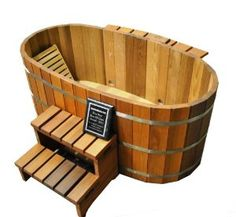 Cheap buy Ofuro Japanese soaking hot tub - 2 person wooden tub now . Wood Tub, Wood Bathtub, Outdoor Bathtub, Bathtub Mat, Outdoor Showers, Outdoor Bathrooms, Japanese Soaker Tub, Japanese Soaking Tubs, Deep Bathtub