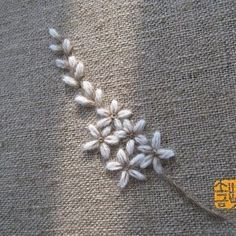 Wonderful Ribbon Embroidery Flowers by Hand Ideas. Enchanting Ribbon Embroidery Flowers by Hand Ideas. Embroidery Flowers Pattern, Rose Embroidery, Embroidery Patterns Free, Hand Embroidery Stitches, Silk Ribbon Embroidery, Embroidery Techniques, Embroidery Kits, Embroidery Supplies, Embroidery Tattoo