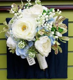 Blue+White Bouquet by Crafts Direct