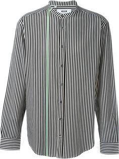 MSGM colour block striped shirt