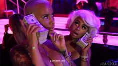Blac Chyna & Amber Rose: Shooting Strip Club Reality Show with Tyga and Scott Disick? Soft Ghetto, Ghetto Fabulous, Black Girl Aesthetic, Aesthetic Gif, Aesthetic Food, Blac China, Money Animation, Gangsta Girl, Manicure Y Pedicure