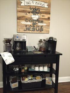 Ikea Hack Norden Sideboard Turned Coffee Bar