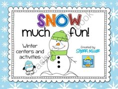 """Snow Much Fun - Winter Literacy Centers and Activities from The Techie Chick on TeachersNotebook.com -  (45 pages)  - You will find this winter packet """"Snow Much Fun""""!  It includes several snow and winter themed centers and activities students can use all winter long.  Several literacy skills are included."""