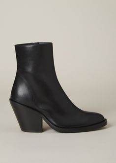 Ann Demeulemeester Black Vitello Fine Boot