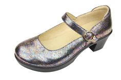 """This Alegria Harper Mary Jane in Spectrum reminds me of a shoe Cher from """"Clueless"""" would have worn with knee high socks and a plaid mini skirt. :)"""