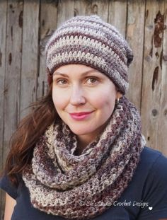 ca8c0982407 Slouchy Hat and Infinity Scarf crochet pattern by Eva s studio
