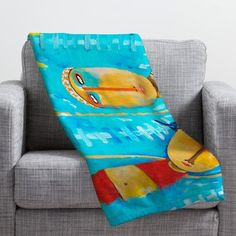 DENY Designs Robin Faye Gates Swimming Is Hard Throw Blanket Size: