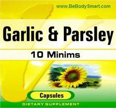 Garlic & Parsley 500mg Softgel    www.BeBodySmart.com