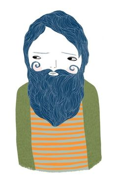 i enjoy her little dudes' beards and simplicity in style yet i can see a story in each character.