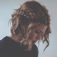 gorgeous brown curly mid lenght hair