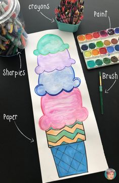 Bleezer's Ice Cream Cone Project for Poetry Month