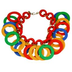 Miriam Haskell Tropical Hoop Necklace