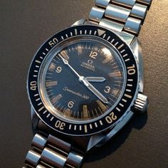 Omega 1960's Vintage Speedmaster 300 Military Style Diver's Watch NR