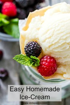 Easy Homemade Ice-Cream
