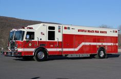 Myrtle Beach, SC FD KME Heavy-Duty Rescue With Predator Cab And Chassis.