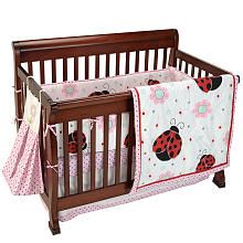 """Too Good by Jenny McCarthy Pretty in Pink 5-Piece Reversible Crib Bedding Set - Pem America - Babies """"R"""" Us"""