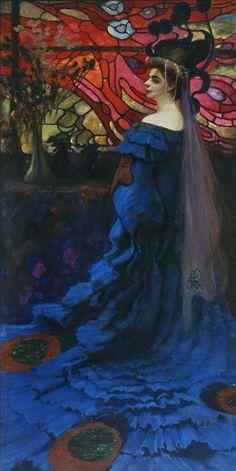 Peacock. Portrait of Zofia Borucinska, Kazimierz Stabrowski,1908